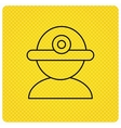 Worker icon Engineering helmet sign vector image vector image