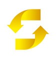 yellow arrows up down on a white background vector image vector image