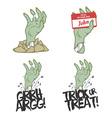 Funny Halloween zombie hand design elements vector image