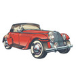 vintage of red retro car in vector image