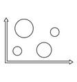 finance diagram icon thin line vector image