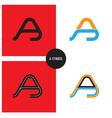 A- Company Symbol vector image