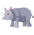 a rhinoceros character on white background vector image