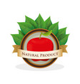 apple natural product label vector image vector image