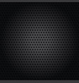 background pattern wholes in black metal vector image