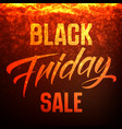 black friday sale background with shining vector image vector image