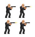 Body Guard Pistol Shooting Animation Sprite vector image
