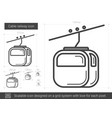 cable railway line icon vector image vector image