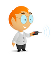 cartoon scientist vector image vector image