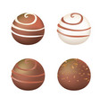 chocolate balls vector image