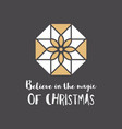 christmas greeting card with geometric ornament vector image vector image
