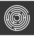 Circle Ring Maze on Black Background vector image vector image