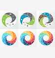 circle swirl infographic template vector image vector image