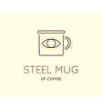 Coffee Accessories Icon with Letter Sign can be vector image vector image