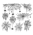 collection of cobweb isolated transparent vector image