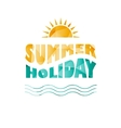 colored summer holiday text vector image
