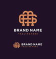 creative monogram letter mg logo concept vector image vector image