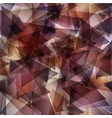 dark brown gradient triangle mosaic template vector image