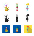 design of party and birthday icon vector image vector image