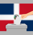 dominican republic election banner background vector image vector image