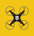 drone with action camera icon aerial photography vector image