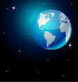 Earth in space - America vector image