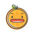 emoji - shock orange smile isolated vector image vector image