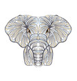 ethnic elephant vector image