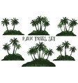 exotic landscape with palms vector image vector image