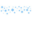 falling blue snow possibility of overlay vector image vector image