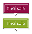 final sale dark pink and green banner vector image