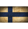 Flags Finland with dirty paper texture vector image