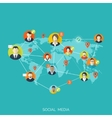Flat social media and network concept Business vector image vector image