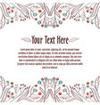 floral ornament template for invitation or vector image vector image