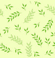 floral seamless pattern green background vector image vector image