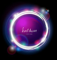 glowing electric garland circle frame vector image vector image