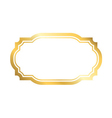 gold frame simple golden white style vector image vector image