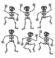 Grunge Dancing Skeletons vector image vector image