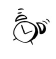 grunge watercolor icon grunge alarm clock icon vector image vector image