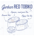 Gunkan Red Tobiko vector image