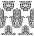 hamsa hand fatima seamless pattern vector image
