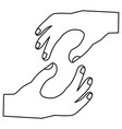 hands in holding position icon image vector image vector image