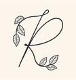 handwritten letter r monogram or logo brand vector image vector image