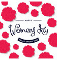 happy womens day design template vector image vector image