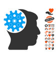 head gear icon with dating bonus vector image vector image