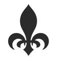 heraldic lily black icon vintage ornament vector image