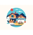 House icon isolated flat vector image vector image