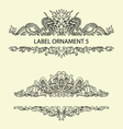 Label ornament 5 vector image vector image
