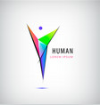 man logo human body logo faceted vector image vector image