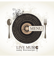 musical cafe vector image